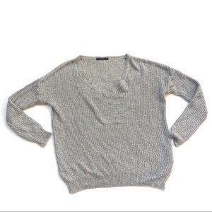 Brandy Melville v neck knit soft sweater pullover